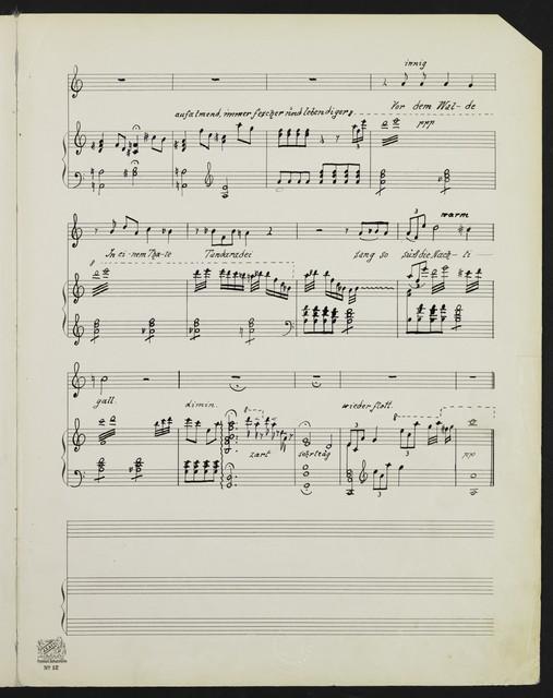 Unter der Linde op. 1 [sic] Nr. 3