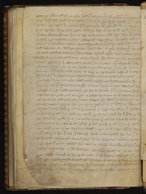 Benedictine rule for nuns.  A Middle English version of the Gospel of Nicodemus.  An anonymous Middle English exposition on the Apostles' Creed.