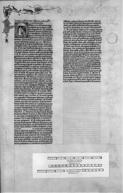 """Bible. Manuscripts. Latin. Biblia latina. April 4, 1452-July 9, 1453. """"Giant Bible of Mainz"""""""