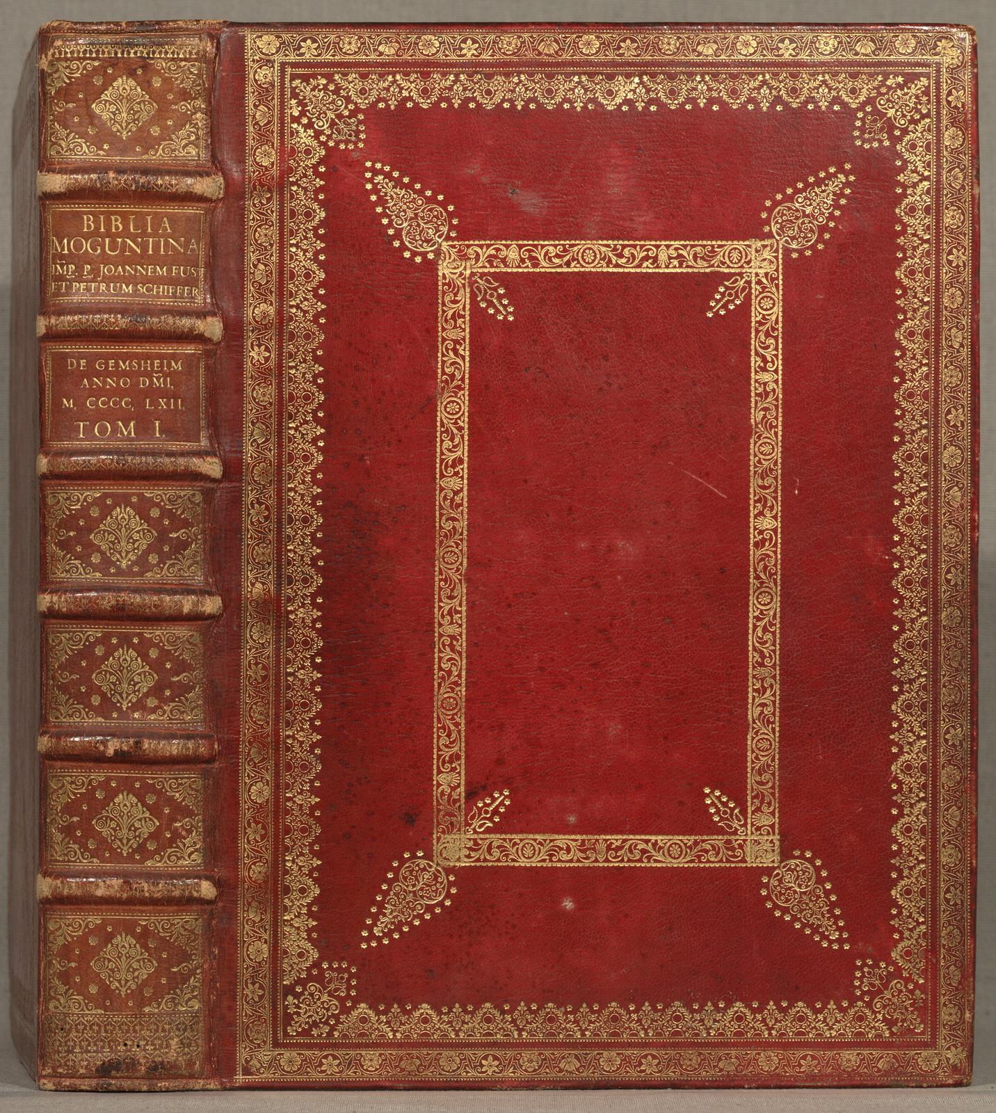 Mainz, Johann Fust and Peter Schoeffer, 14 Aug. (in vigilia Assumptionis Mariae) 1462.