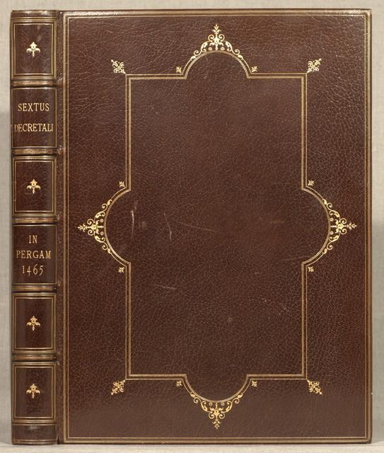 Liber sextus Decretalium.Mainz, Johann Fust and Peter Schoeffer, 17 Dec. 1465.