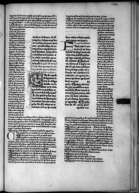 [Printed vellum page from Corpus Juris Civilis, 1468]