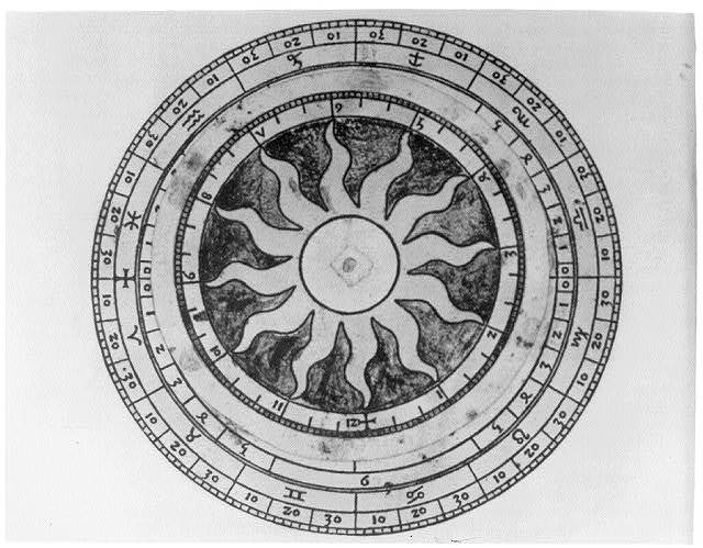 [A volvelle showing the movement of the moon throughout the calendar year]