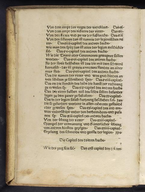 Des durchleichtigen wolgebornen Grauen Flauii Vegecii Renati kurcze Red von der Ritterschafft.