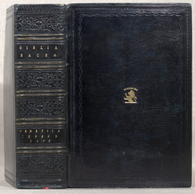 [Bible. Latin. 1476. Vulgate. [from old catalog]]Biblia Latina.Venice, Nicolaus Jenson, 1476.
