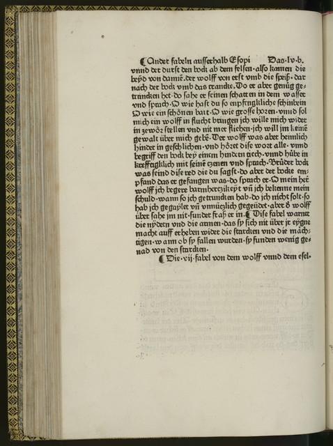 [Aesop's fables. German]Vita et Fabulae.[Augsburg, Anton Sorg, ca. 1479]