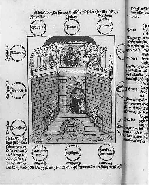 Woodcut in Werner Rolevinck, Fasciculus Temporum - entire page