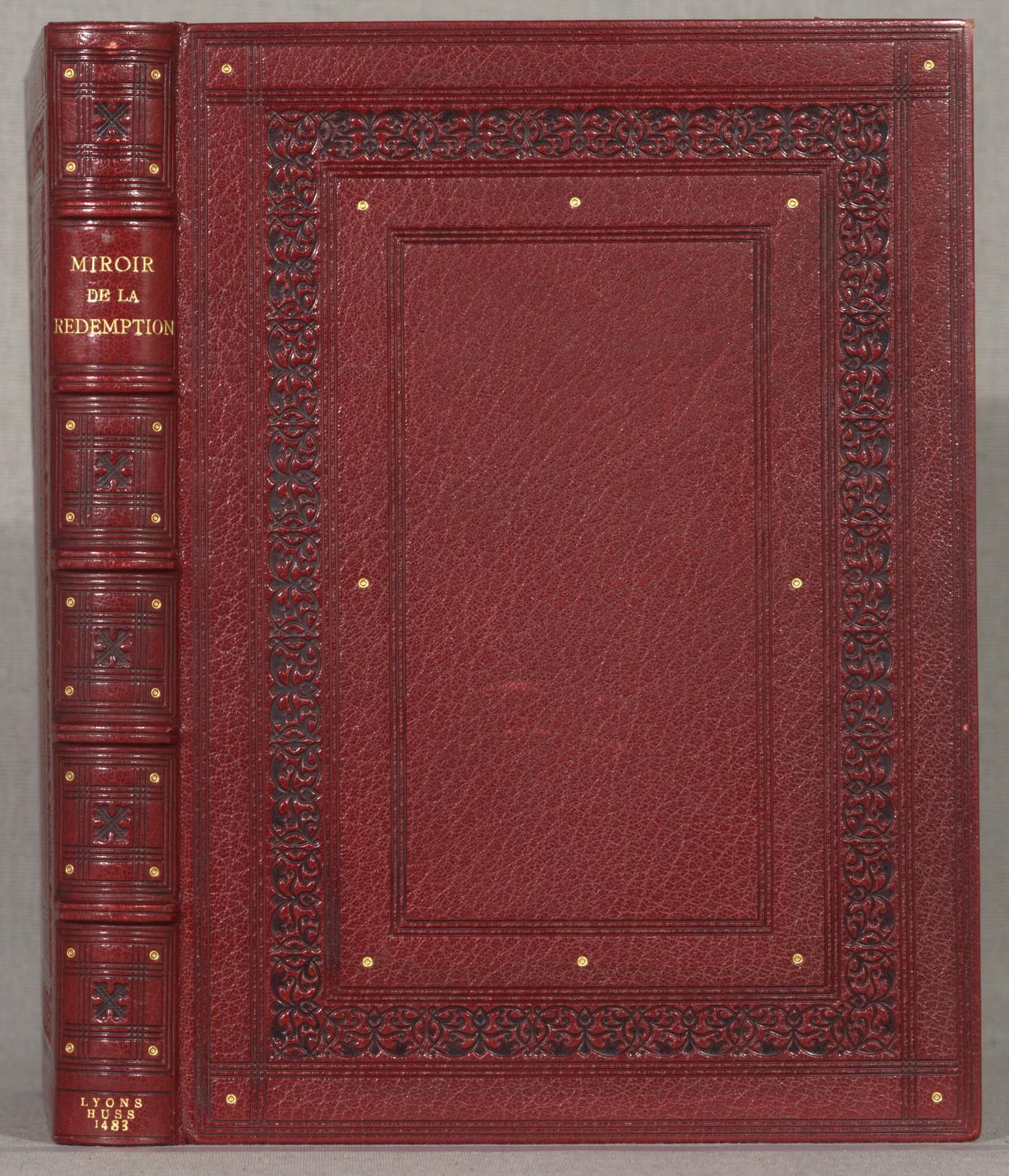 [Speculum humanae salvationis. French. [from old catalog]]Le mirouer de la rede[m]ption de humain lignaige.[Lyons] Matthias Huss, 3 Mar. 1483/84.