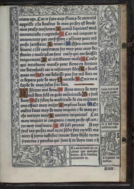 Sensuiuent les sept Psaumes en fra[n]cois translates au plus pres du latin.