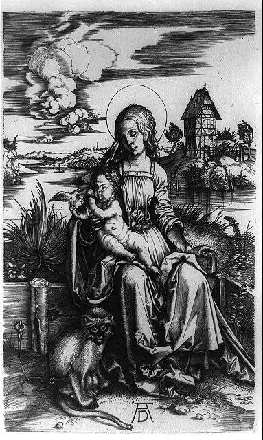[Virgin and Child with the Monkey]