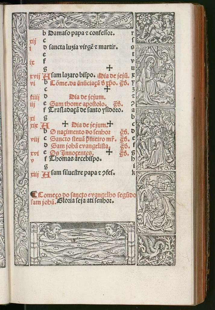 Horas de Nossa Senora segundo costume Romano, con as horas do Spirito Sancto