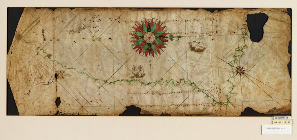 [Portolan chart of the Pacific coast from Mexico to northern Chile].