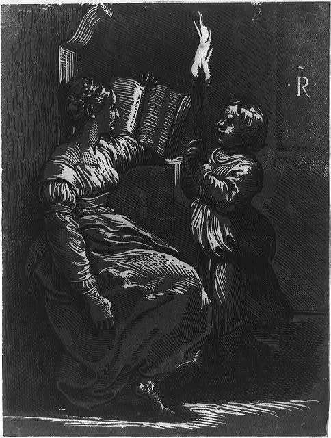 Sibyl reading a book / R.
