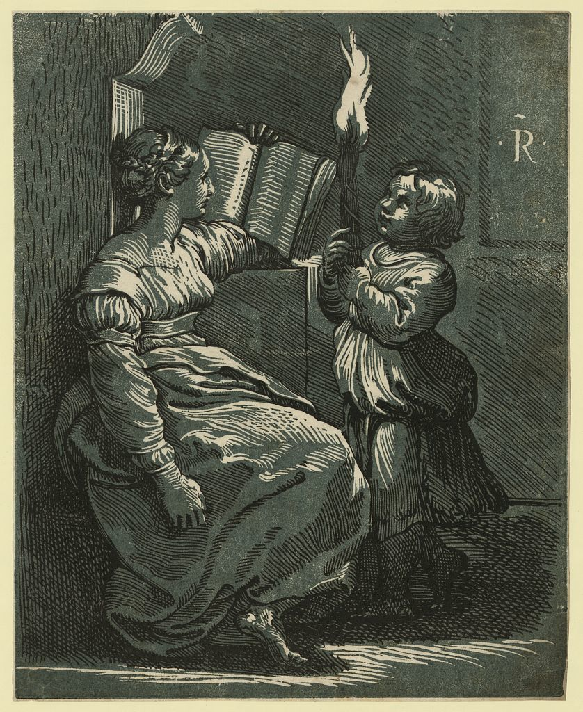 Sibyl reading a book / R.