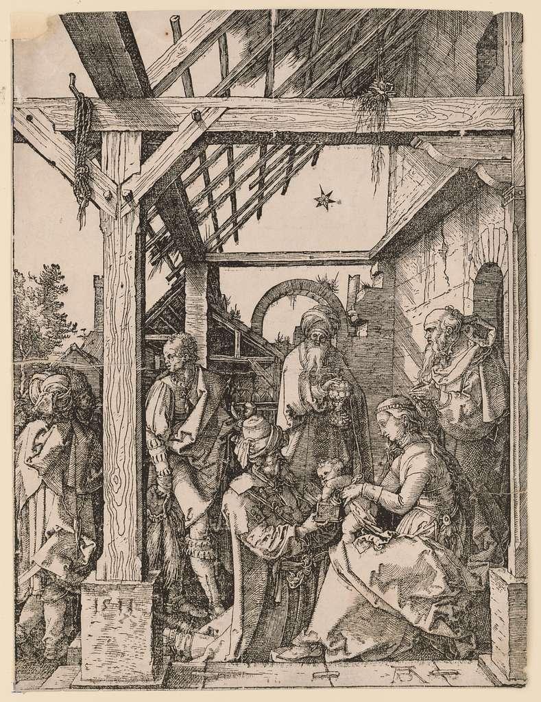 Adoration of the Magi AD monogram