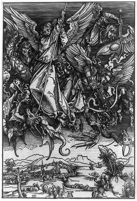 [St. Michael fighting the dragon] / AD.