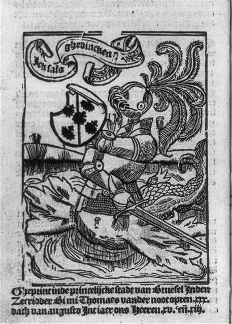[Knight in armor, with lower body of fish]