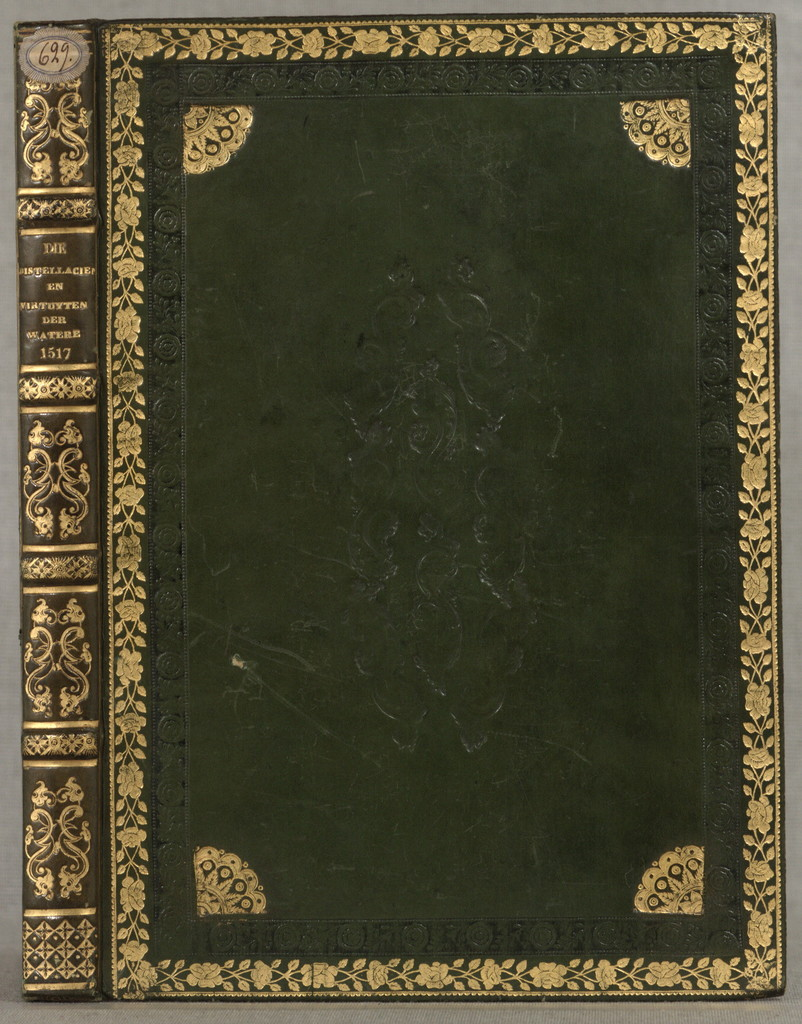 Die distellacien e¯u virtuyten der water¯e.Liber de distillandi, de simplicibus Kleines Distillierbuch. Dutch [from old catalog][Bruesele, 1517]