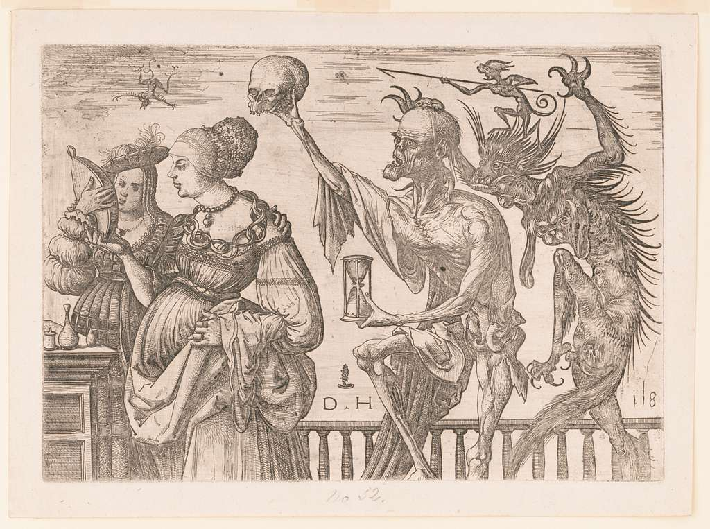 Death and the Devil surprise two women DH monogram