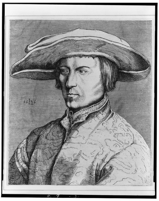 [Portrait of Lucas van Leyden] / L [monogram].