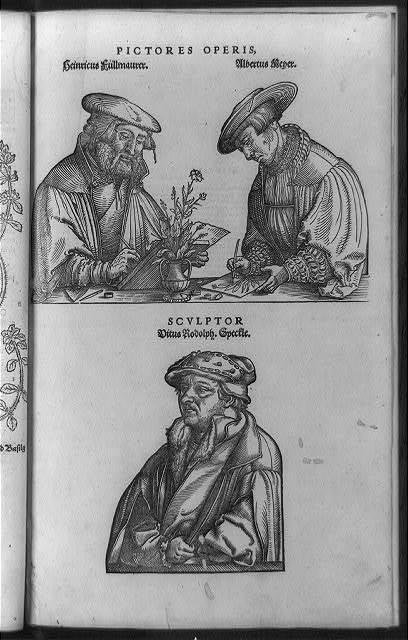 Pictores operis, Heinricus Fullmaurer, Albertus Meyer, sculptor Vitus Rodolph Speckle
