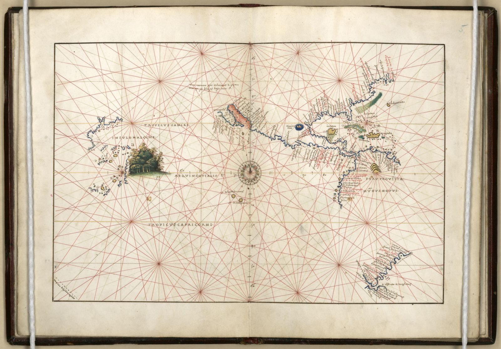 Portolan atlas of 9 charts and a world map, etc. Dedicated to ...