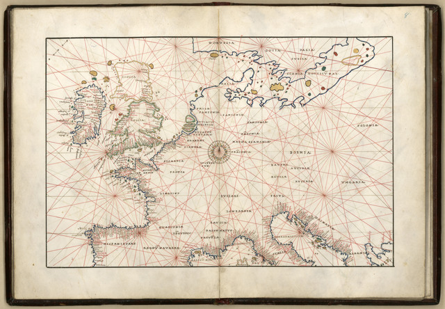 [Portolan atlas of 9 charts and a world map, etc. Dedicated to Hieronymus Ruffault, Abbot of St. Vaast].