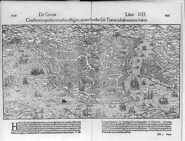 [Detail map of Constantinople. 1550]