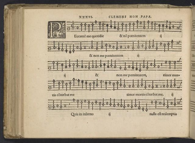 Tertia pars magni operis musici continens clarissimorum symphonistarum tam veterum quàm recentiorum, praeipue vero Clementis non Papae, carmina elegantissima quatuor vocum