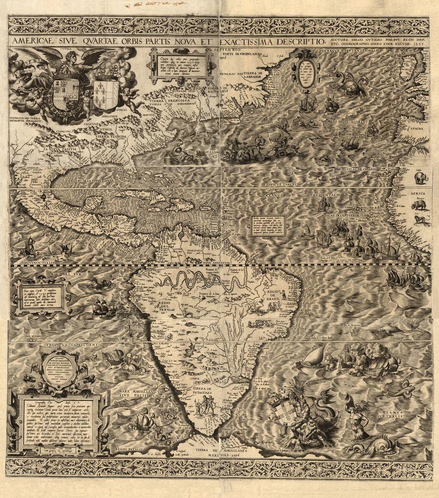 Americae sive qvartae orbis partis nova et exactissima descriptio /