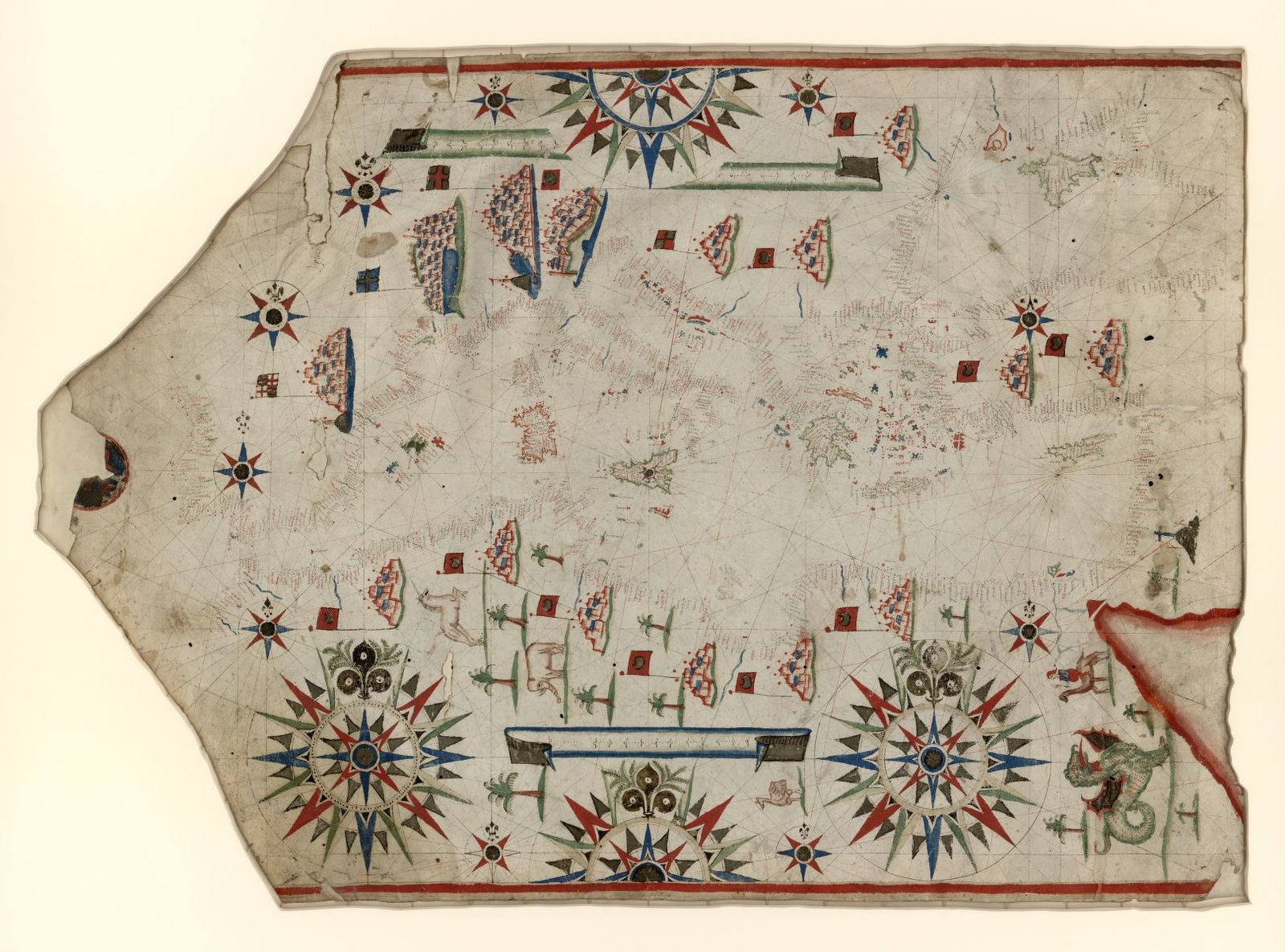 [Portolan chart of the Mediterranean and Black Seas with the west coast of Spain and Portugal] /