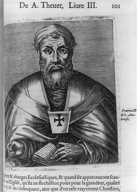 [Saint Ambrose, 340?-397, half]