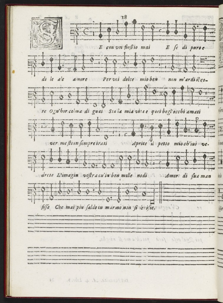 Il  primo libro de madrigali a qvattro voci con un dialogo à otto nel fine