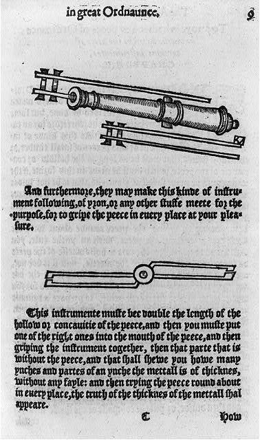 [Page 9 from The Art of shooting in great ordnaunce... written by William Bourne. Imprinted at London for Thomas Woodcocke, 1587]