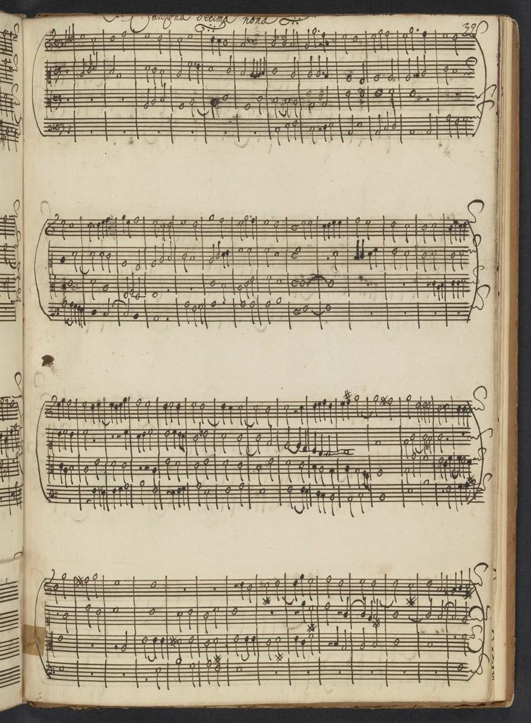 Canzoni di Florenzio Maschera à 4 voci nouamente ristampate per i professori d'Organo libro primo
