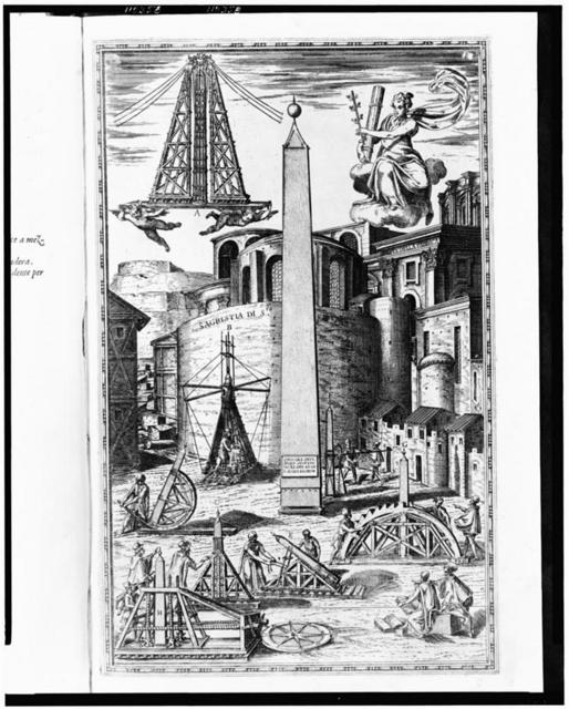 [Obelisk at the Circus Nero prior to its relocation to the Piazza of Saint Peter in Rome]