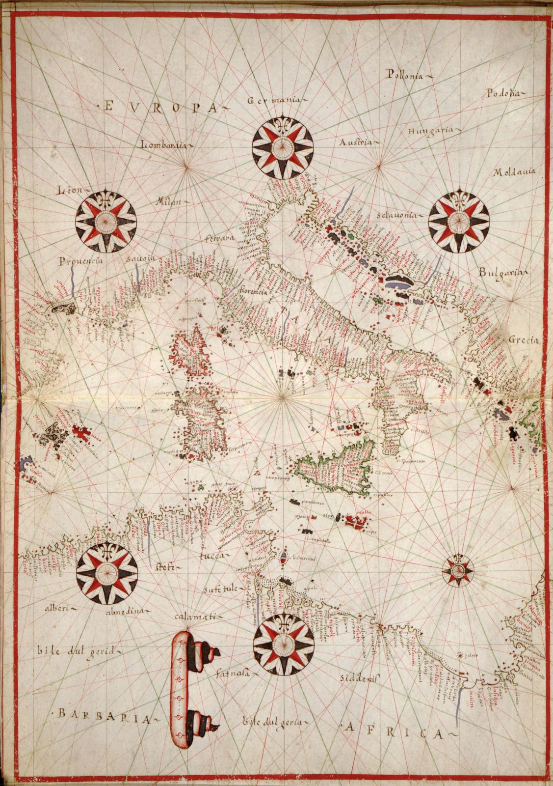 Portolan Atlas Of The Mediterranean Sea Western Europe And The Northwest Coast Of Africa Library Of Congress Public Domain Image