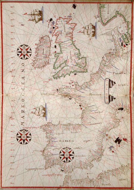 [Portolan atlas of the Mediterranean Sea, western Europe, and the northwest coast of Africa].