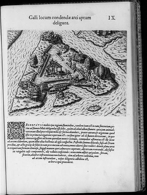 Galli locum condendae arci aptum deligunt