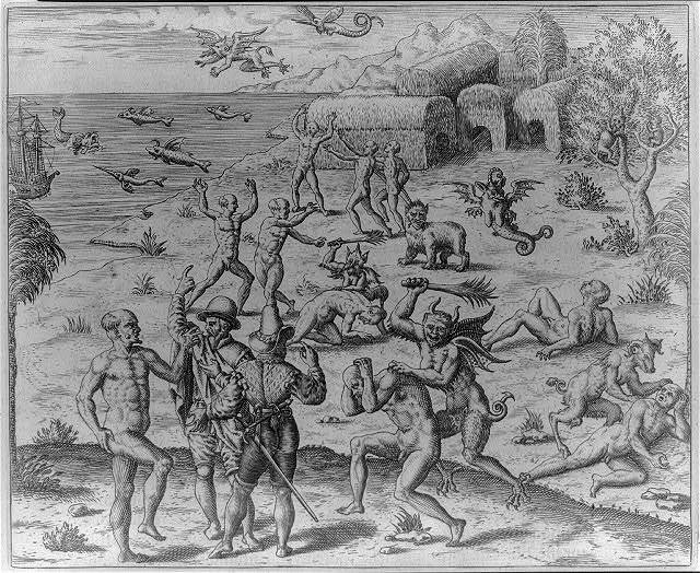 Johannes Lerii's account of Indians persecuted by demons whom they call Kaagerre