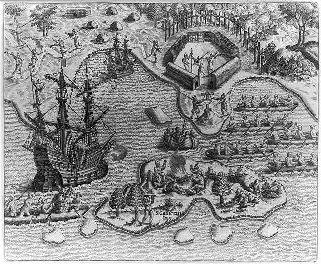 Johannes Staden taken prisoner at San Maro by Indians