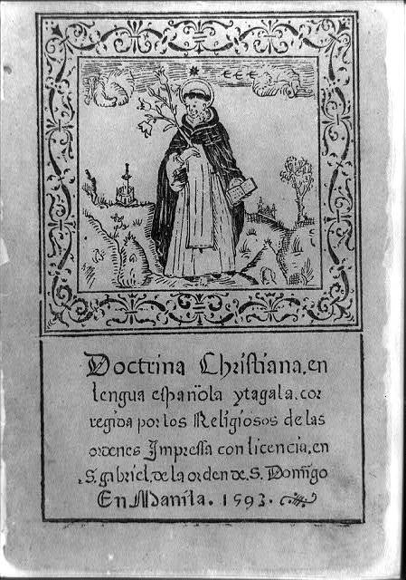[Title p. illus. with Spanish missionary in Philippines standing holding open book and branch]