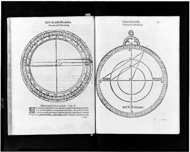 [Two views of a 16th century astrolabe]