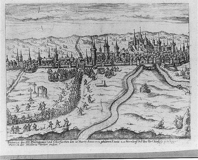 Friderico des IIII. Pfaltzgraun vnd Churfursten den 21 Martÿ Anno 1598, gehaltenen Einritt zue Normberg Vnd Was Ihr Churft. Gegld. begegnet