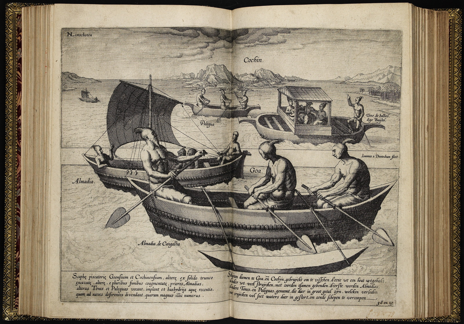 Iohn Huighen van Linschoten his Discours of voyages into ye Easte & West Indies