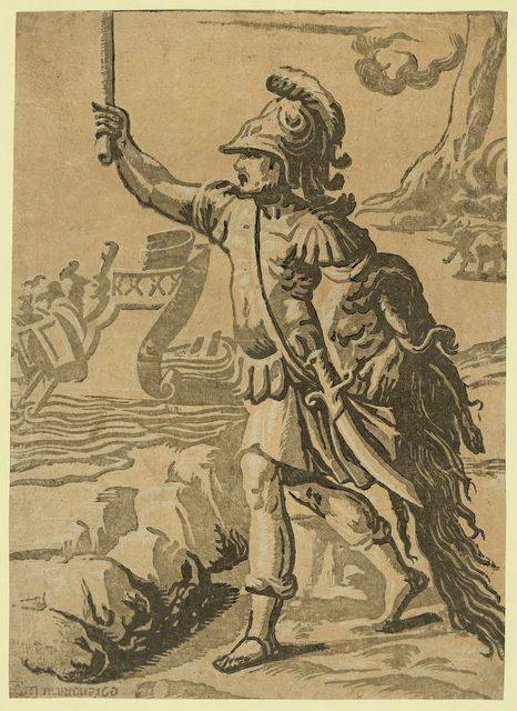Jason returning with the golden fleece / AA [monogram of Andrea Andreani] in Mantoua 160.
