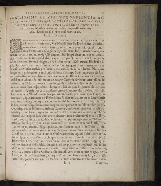 Epistolarum astronomicarum libri.