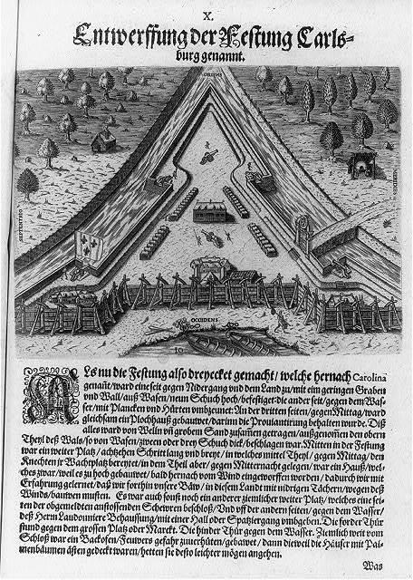 Entwerffung der Festung Carlsburg genannt