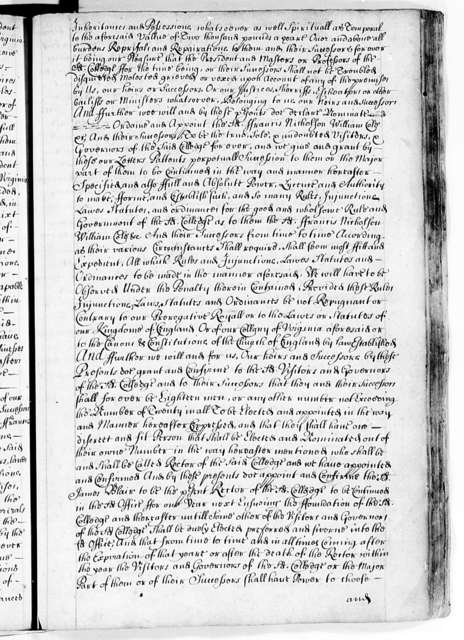 Virginia Company of London and the Colony, 1606-92, Miscellaneous Papers