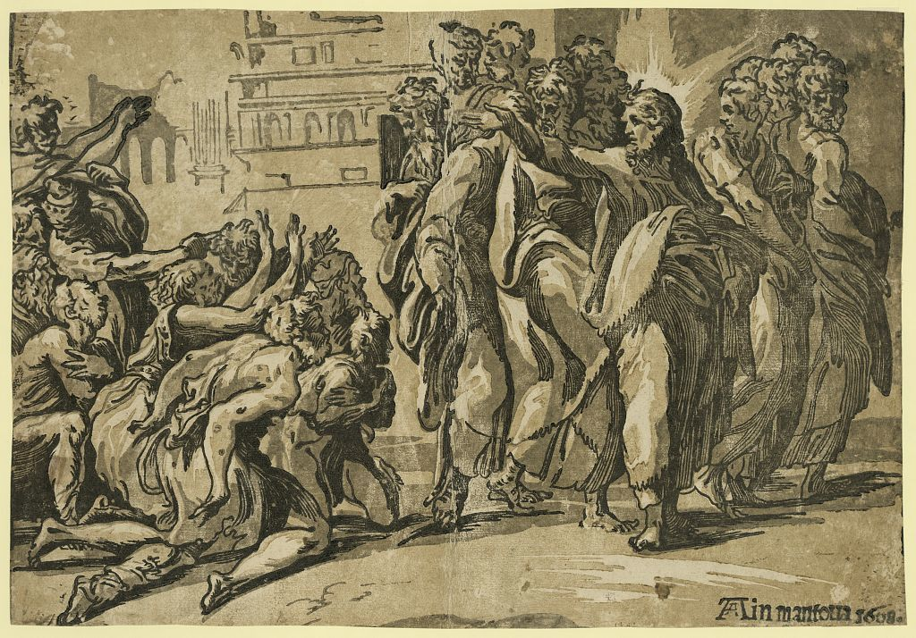 Christ curing the lepers / Ain mantoua, 1608.